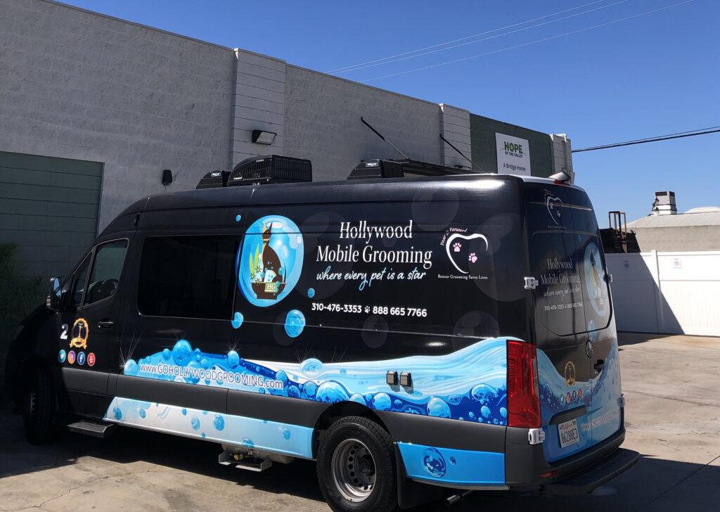The Hollywood Mobile Grooming van.